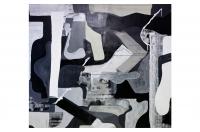 Acrylic, spraypaint and watercolour on canvas. (155x170cm) Photo by Sabrina Karaktsanis
