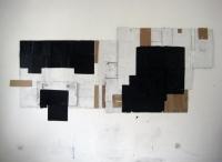 Paint and Acrylic on Cardboard. (100x230cm) 2012.